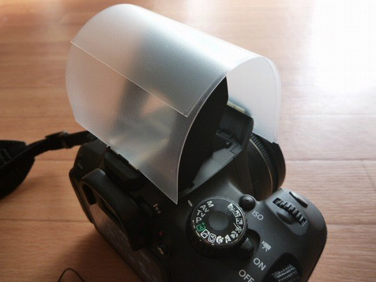 カメラ内蔵ストロボ用ディフューザーの作り方