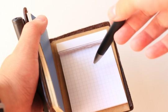 ペン2本装備でも書きやすい