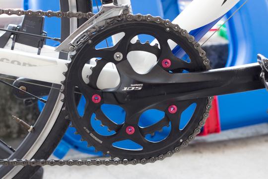 【ロードバイク】チェーンリングのフィキシングボルトを交換した