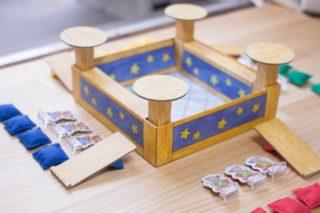 3歳から遊べるボードゲーム「クッションシューター(Kinderspielexperten)」